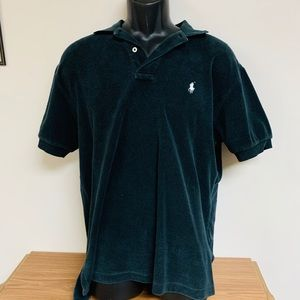 Black Textured Polo by Ralph Lauren size M
